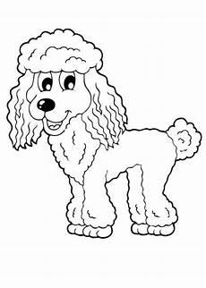 ausmalbilder pudel tiere zum ausmalen malvorlagen hund
