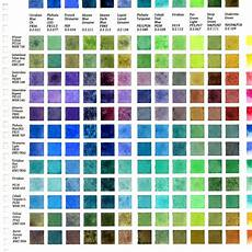 Daniel Smith Watercolor Paint Chart Daniel Smith 215 Primary 12 Color 002 Color Mixing Chart