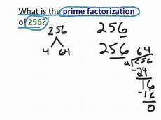 What Is Prime Factorization Prime Factorization Of 256 Tek 6 1b Youtube