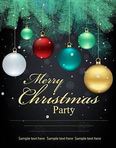 Christmas Poster Templates Christmas Poster Fir Tree Colorful Baubles Decoration Free