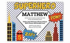 Superhero Invite Template 30 Superhero Birthday Invitation Templates Psd Ai