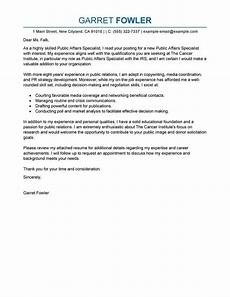 Public Policy Cover Letters Best Public Affairs Specialist Cover Letter Examples