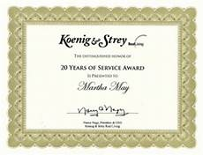 Years Of Service Certificate 20 Year Service Award Quotes Quotesgram