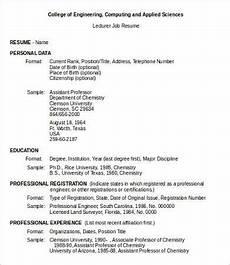 Format Of Job Resume 10 Sample Job Resumes Templates Pdf Doc Free