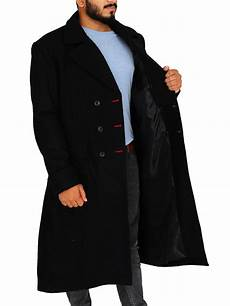 sherlock classic black wool coat jackets