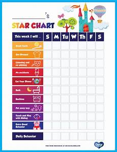 Good Behaviour Charts To Print Off Printable Kids Star Behavior Chart Delta Children