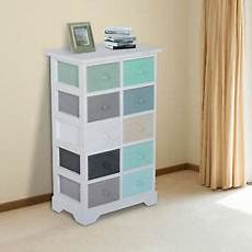 homcom cabinet 10 drawers storage unit chest home office