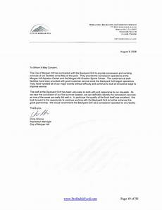 Sample Recommendation Letter For Cda Renewal City Of Morgan Hill Profitable Food Facilities Worldwide