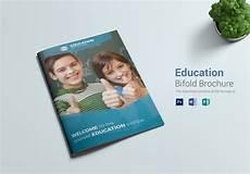 education bi fold brochure design template in word psd