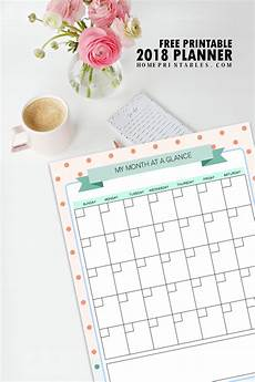 Free Printable Planner Pages Free Printable 2018 Planner 25 Amazing Organizers Home