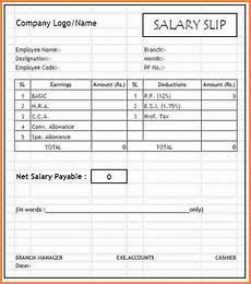Salary Slip Format India 7 Salary Slip Format In India Salary Bill Format Payroll