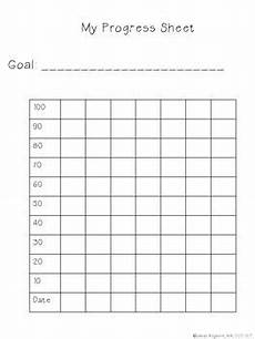 Chart For Students To Monitor Progress Student Progress Chart Student Data Folders Speech