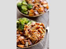 BBQ Chicken & Roasted Sweet Potato Bowls   Easy Meal Prep