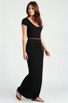 boohoo lottie cap sleeve belted maxi dress ebay