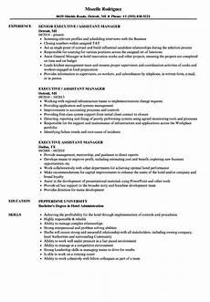 Senior Executive Assistant Job Description Executive Assistant Manager Resume Samples Velvet Jobs