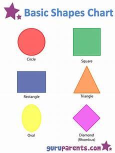 Basic Color Chart For Kids Shapes Worksheets And Flashcards For Kids Shapes