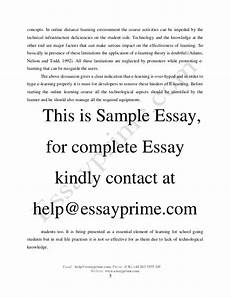 Essay On Line E Learning Essay Sample