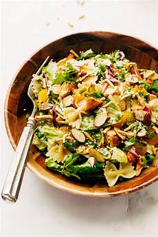 Salad With Pasta Sesame Chicken Pasta Salad With Dressing Recipe