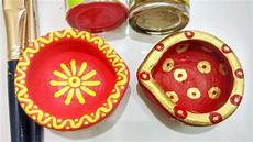 Designer Diyas Easy Ways To Decorate Plain Diyas Part 2 Small Diya