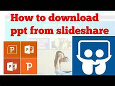 Slideshare App How To Download Ppt From Slideshare Youtube