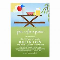 Family Picnic Invitation Summer Picnic Family Reunion Invitations Zazzle Com