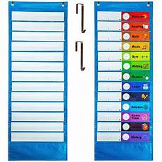 Cards And Pockets Color Chart Youngever Classroom Pocket Chart 13 1 Pocket Daily