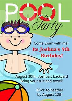 Birthday Party Invitation Templates Free Printable Pool Party Birthday Invitations Printable Free