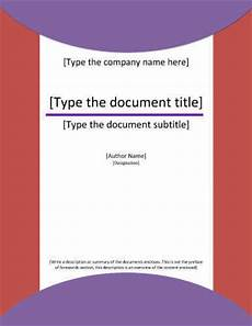 Cover Title 7 Report Cover Page Templates For Business Documents Hloom