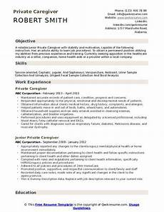 Caregiver Resume Sample My Perfect Resumes Caregiver Resume Samples Qwikresume
