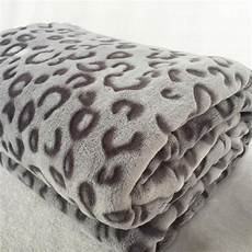 Gray Throws And Blankets For Sofa 3d Image quality fashion modern 3d leopard print plush faux mink