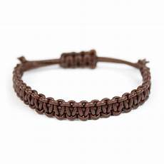 pulseira macram 234 leather caf 233 macrame leather bracelet