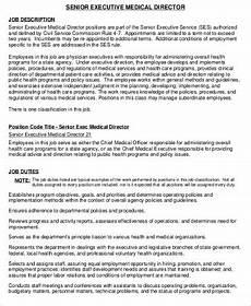 Senior Executive Assistant Job Description Medical Director Job Description Sample 9 Examples In