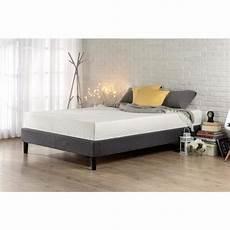 zinus curtis upholstered platform bed frame king hd efpb
