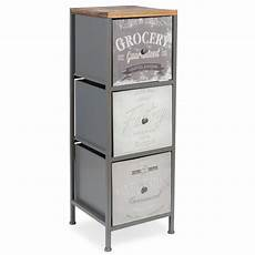 vintage store small 3 drawer metal cabinet h69cm