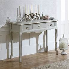 classic grey range 3 drawer console dressing table