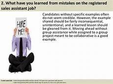 Sales Assistant Job Interview Top 10 Registered Sales Assistant Interview Questions And