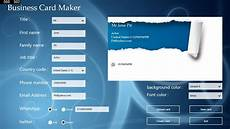 Microsoft Business Card Maker Free Download Business Card Maker For Windows 10 Free Download On 10 App