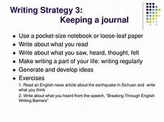 Writing Strategy Ppt Breaking Through English Writing Barriers Powerpoint