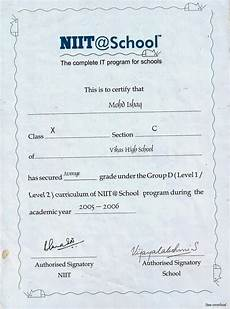 Niit Certificate Format Pdf 01 15 14 Mohammed Ishaq Administrator