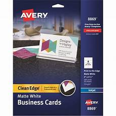Avery Business Card Creator Avery Clean Edge Custom 2 Sided Business Cards Ave8869