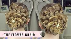 Pics Of Designs In Hair The Flower Braid By Sweethearts Hair Youtube