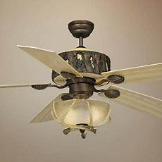 Log Cabin Ceiling Fans With Lights 52 Quot Vaxcel Log Cabin Ceiling Fan With Antler Bowl Light