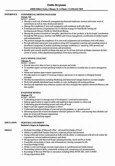Mining Resume Sample Mining Resume Samples Velvet Jobs