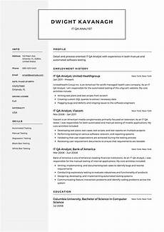 Qa Sample Resume Guide It Qa Analyst Resume 12 Samples Amp Examples Pdf