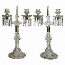 candelieri in cristallo coppia di candelieri in cristallo antiquariato su