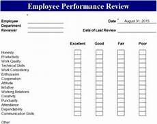 Customer Service Performance Review Template Employee Performance Review Template My Excel Templates