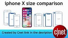Iphone 8 And Iphone X Comparison Chart Iphone Size Comparison X Vs 8 Vs 8 Plus 2017 2018 Youtube