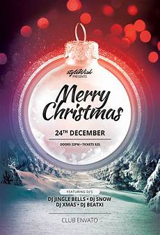 Christmas Flyer Templates Free Merry Christmas Flyer Template On Behance