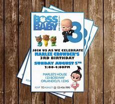 Baby Birthday Party Invitations Novel Concept Designs The Boss Baby Birthday