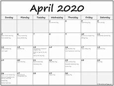 Write On Calendar 2020 April 2020 Calendar With Holidays